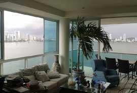 apartamentos frente al mar y bahia en Castillogrande-Cartagena-Colombia